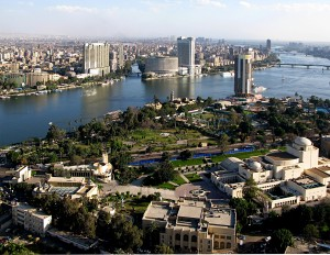 Cairo, by the Nile. Public Domain.