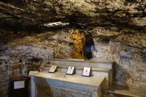 Elijah's cave atop Mt. Carmel