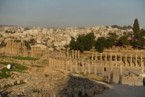 Magnificent ruins in Jerash, Jordan.