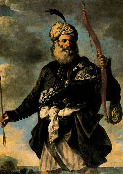 A Barbary pirate, Pier Francesco Mola 1650 (public Domain)