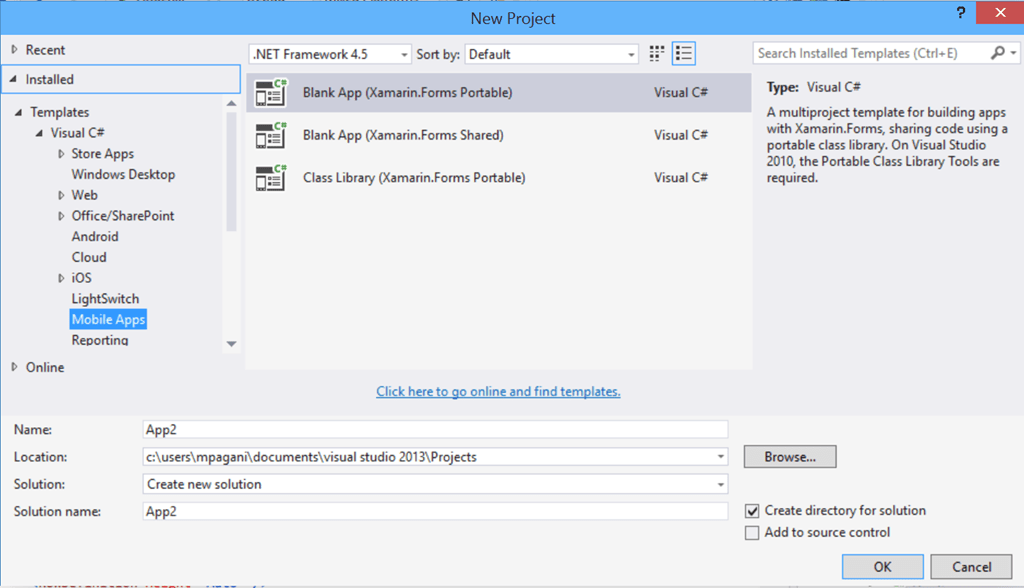 Xamarin Forms for Windows Phone devs – The first project | Diary of ...