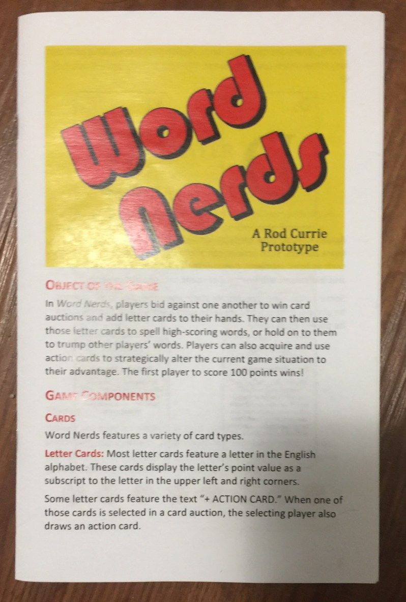 Word Nerds rulebook