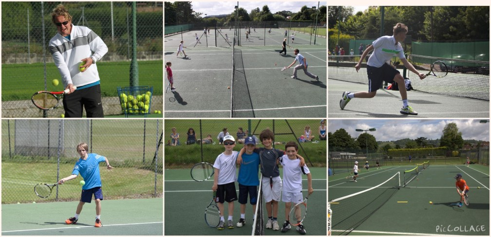 Junior group coaching at Reigate Priory Lawn Tennis Club