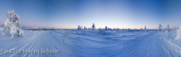Sunset at 25°C below zero
