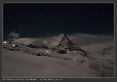 Nachtarbeit im Mondliecht am Horu