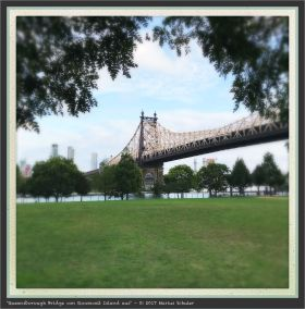 Queensborough Bridge von Roosevelt Island aus