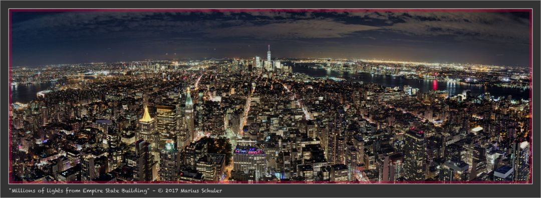Millions of lights from Empire State Building