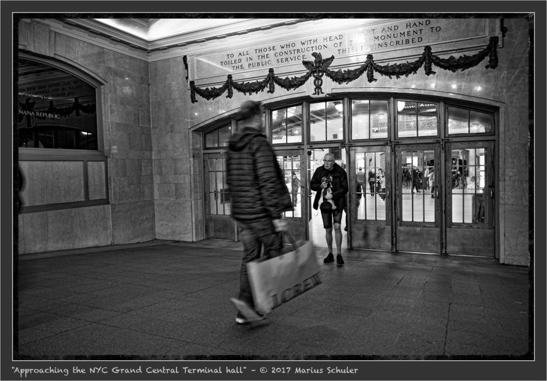 Approaching the NYC Grand Central Terminal hall