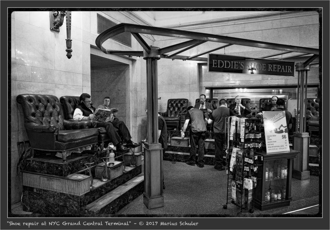 Shoe repair at NYC Grand Central Terminal