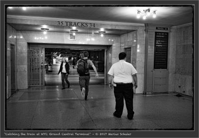 Catching the train at NYC Grand Central Terminal