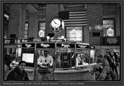 Getting information at NYC Grand Central Terminal