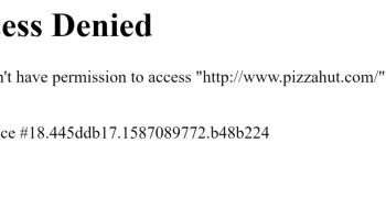 Access Denied en sitios web