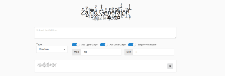 qué es zalgo generator