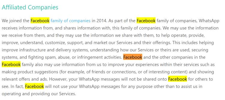 privacidad de whatsApp 2016
