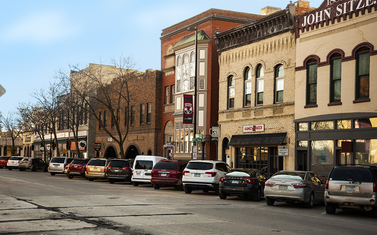 Downtown Northfield - shops and food