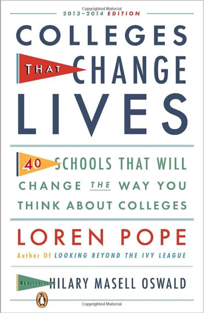 Colleges that change lives cover