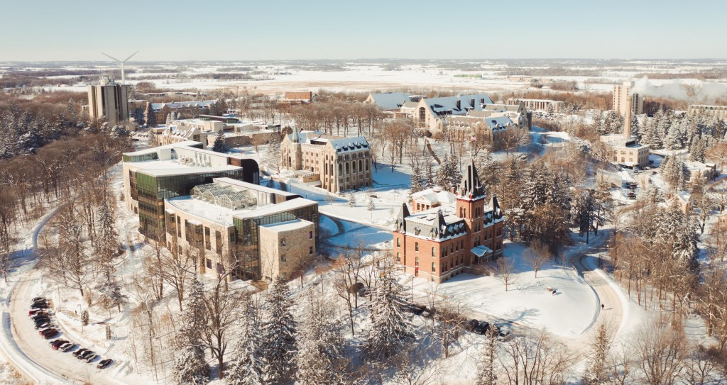 St. Olaf campus during winter