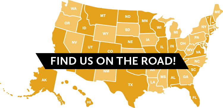 Find us on the road!