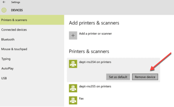 Installing, Removing, and Using a Departmental Printer in