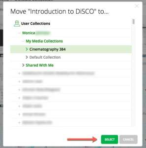 Select where to move your recording.