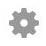 gray icon of gear