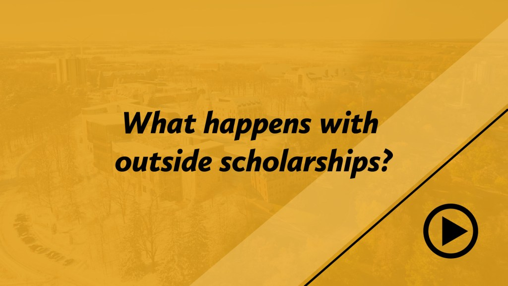 What happens with outside scholarships?