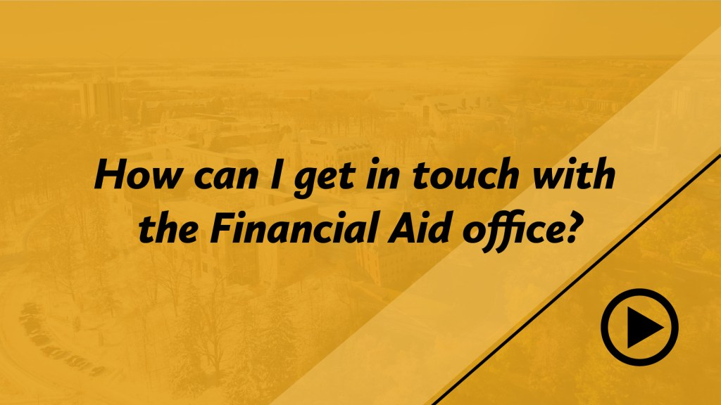How can I get in touch with the Financial Aid office?