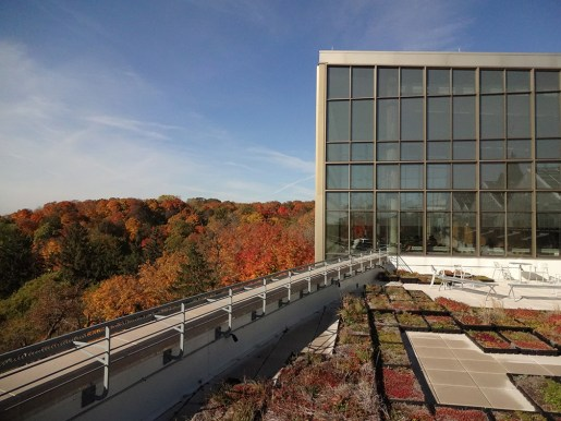 Regents Hall in the fall