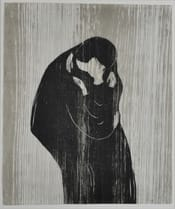 'Der Kuss,' a woodcut by Edvard Munch, is one of the pieces featured in the Collection Stories.