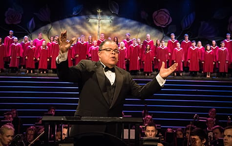 """""""The live stream allows us to bring this message to those who have never experienced Christmas Festival, or people who have not experienced it for a very long time,"""" says Christmas Festival Artistic Director Anton Armstrong '78."""