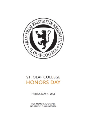 St. Olaf celebrates academic excellence on Honors Day