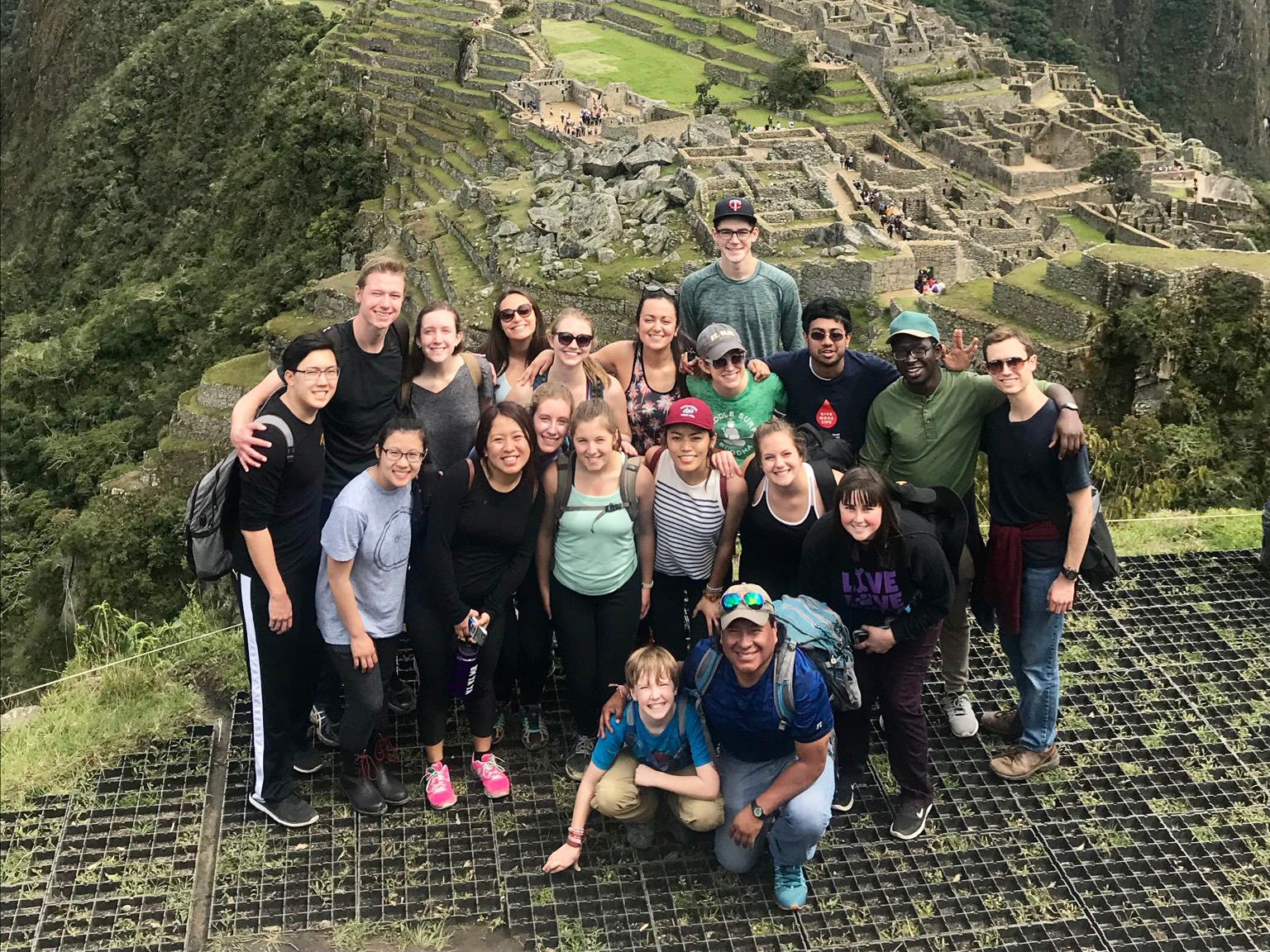 Oles at Machu Picchu as part of the Peruvian Medical Experience in January 2018