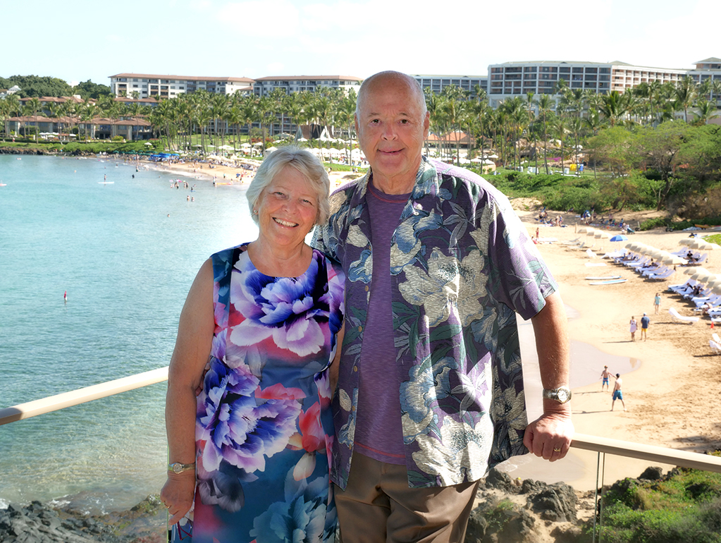 Steve and Billie Moksnes at their home in Hawaii.