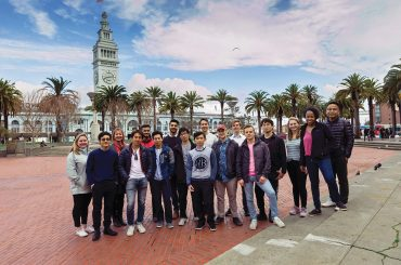 St Olaf students visting San Francisco