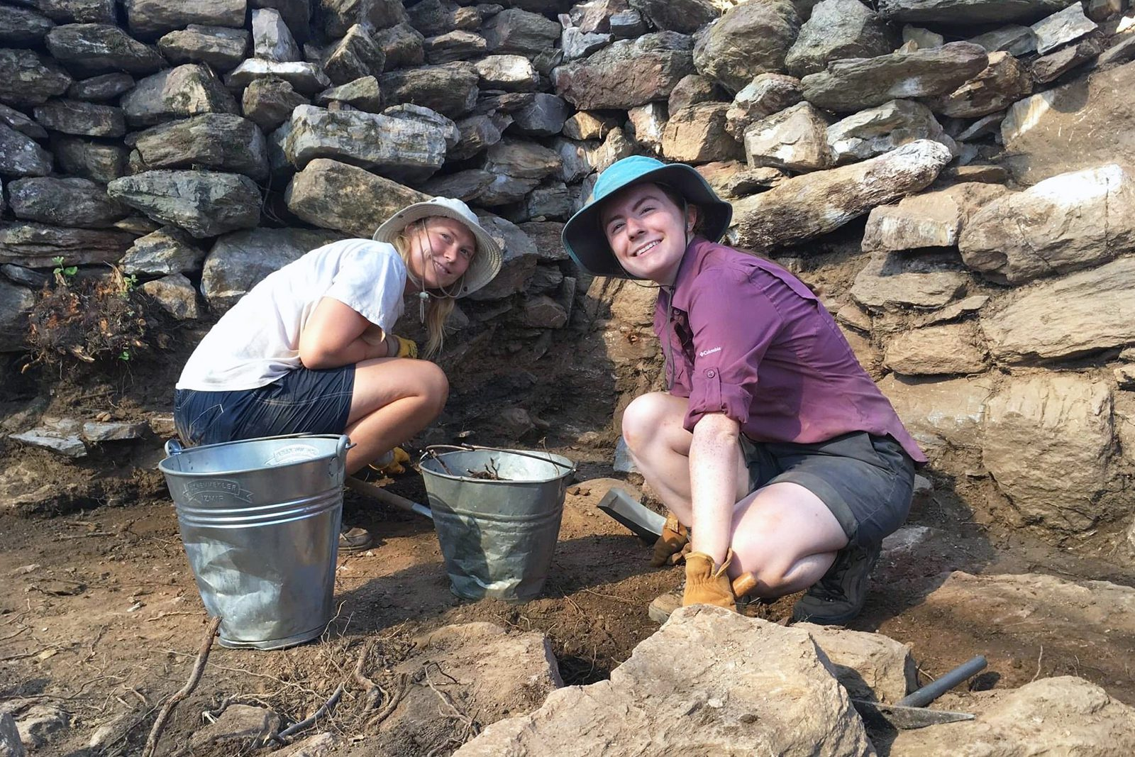 Grace Hermes '21 works on the excavation in progress at the Antiochia ad Cragum dig in Turkey.