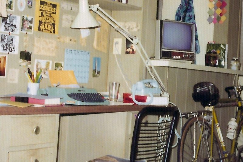 Fräulein Olivetti, the typewriter that belonged to Professor of History Judy Kutulas, sits on her desk.