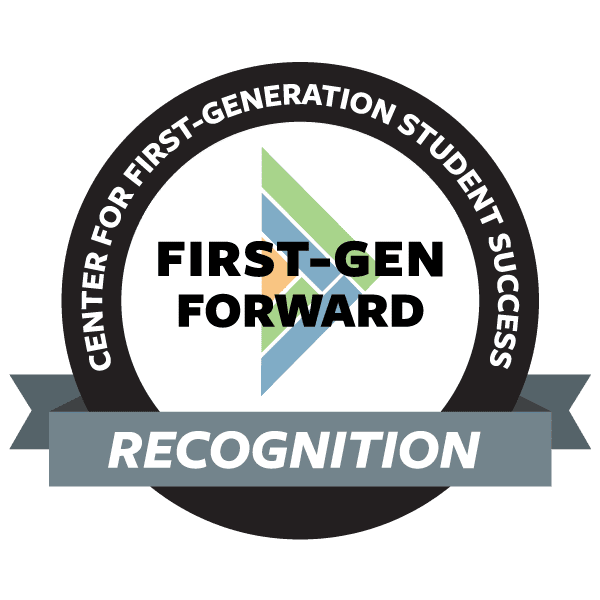 Graphic of the First-Gen Forward logo recognition.