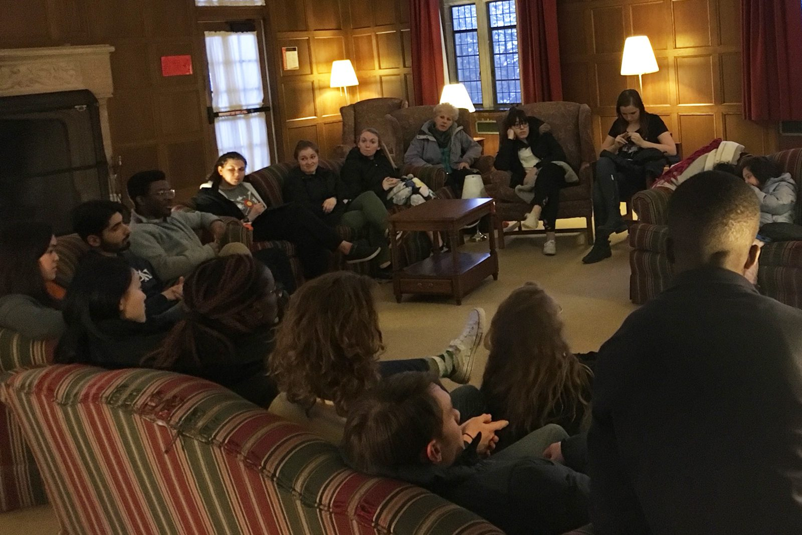 Inclusivity Advocates gathered in March 2019 for a discussion night with Taylor Center for Equity and Inclusion Director María Pabón.