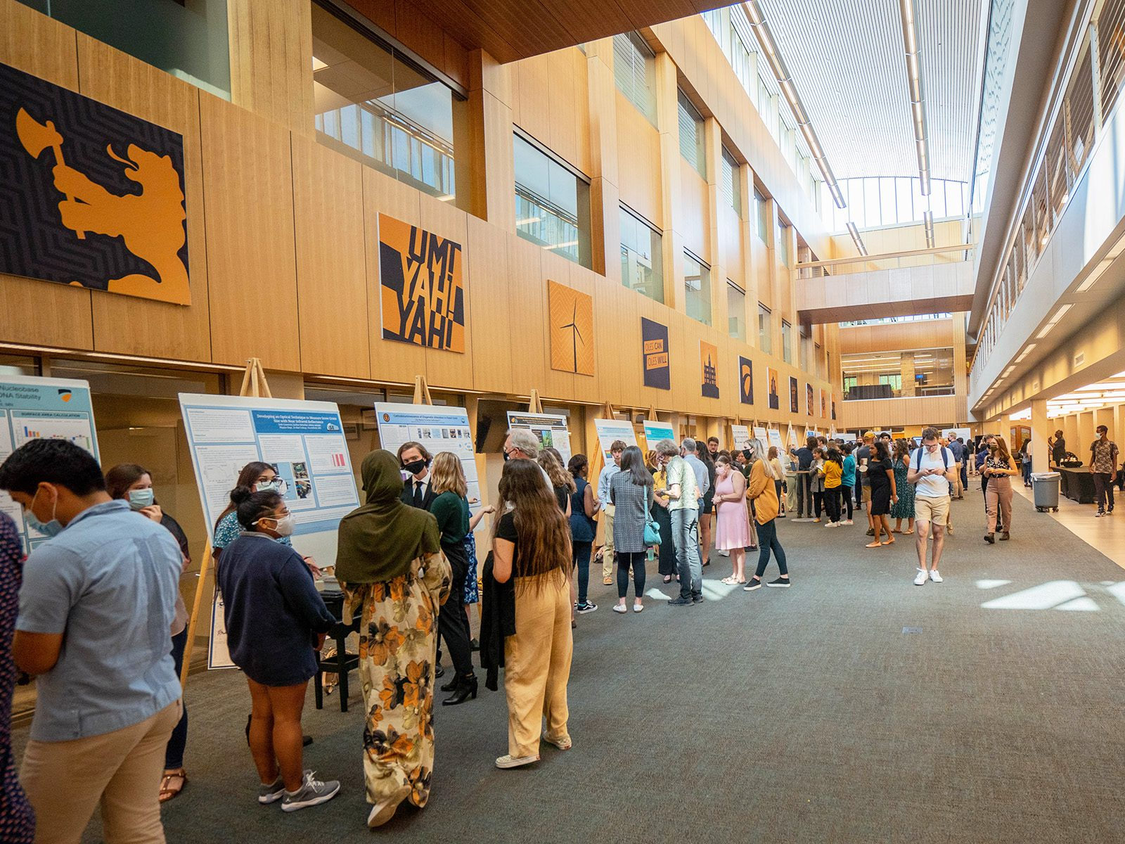 The Collaborative Research and Undergraduate Inquiry (CURI) closing symposium on August 6 featured 62 presentations highlighting the work done this summer.