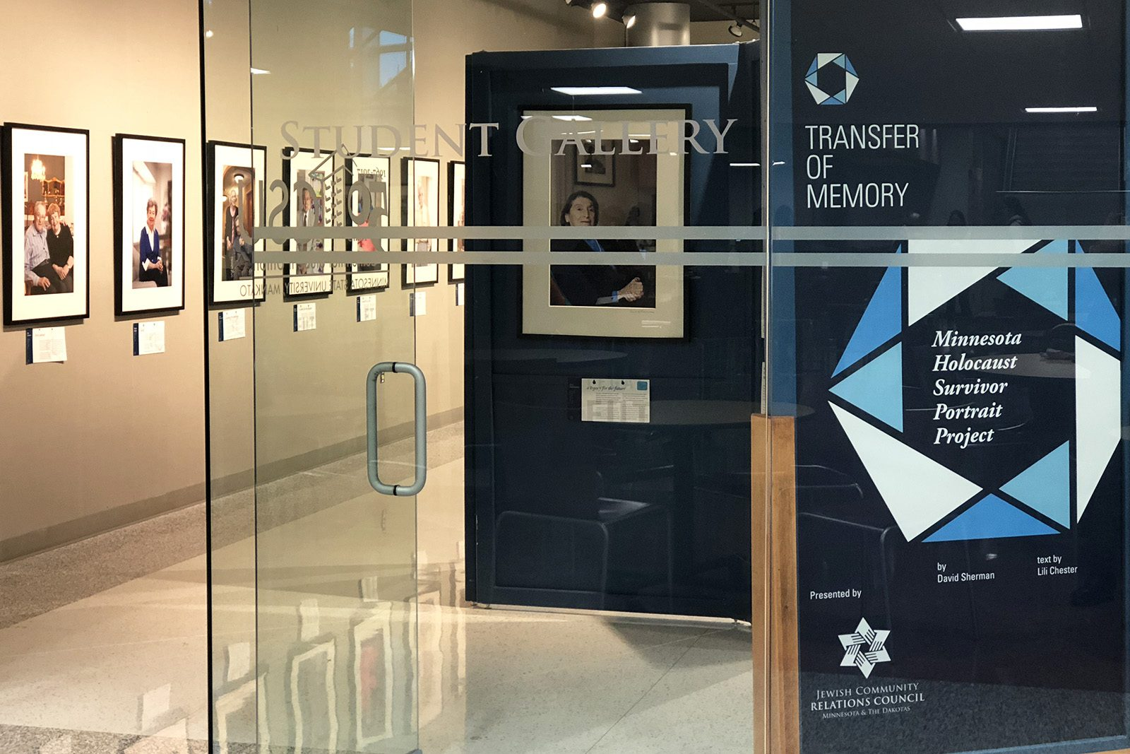 """The """"Transfer of Memory"""" exhibition, shown here while it was on display at Minnesota State University-Mankato in 2019, is on display for the first time in nearly two years for a month-long run at St. Olaf College."""