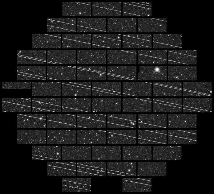 Starlink Satellite streaks