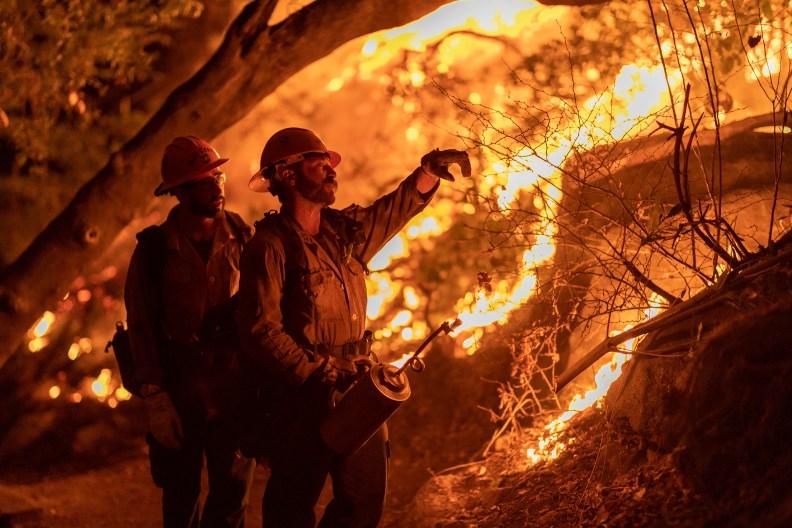 Arcadia, CA wildfire