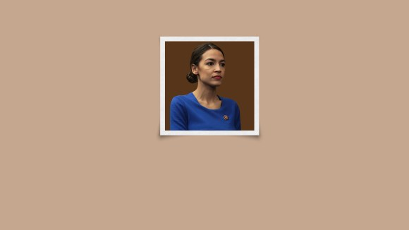 An AI saw a cropped photo of AOC. It autocompleted her wearing a bikini.