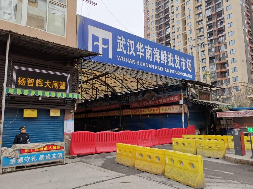 Huanan market in Wuhan