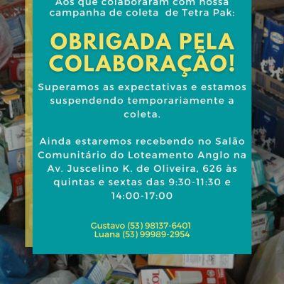 Campanha de arrecadação das embalagens Tetra Pak® atinge a meta!