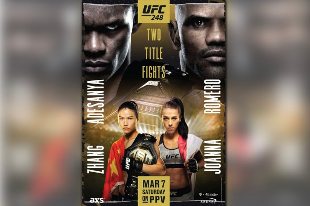 ufc 248 s two title fights adorn poster