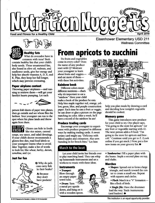 April Nutrition Nugget – NORTON COMMUNITY SCHOOLS