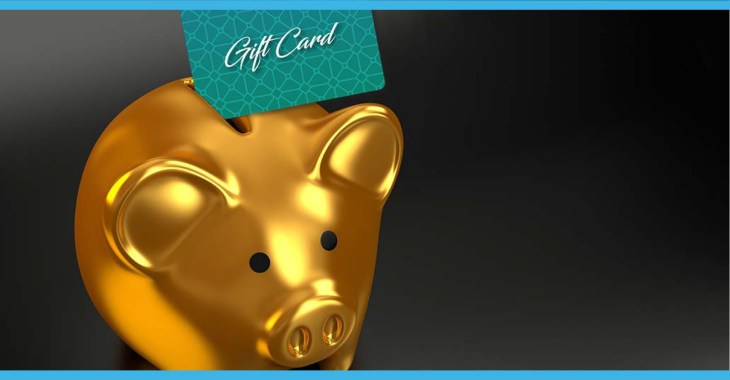 advantages of gift cards piggy bank