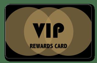 VIP rewards card with gold interlocking circles