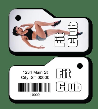 Fitness Club Membership Access Key Tag